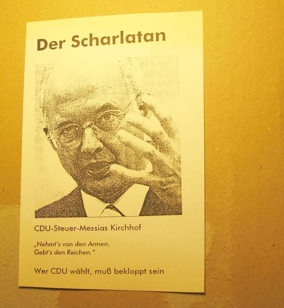 Flugblatt der Projektgruppe Pudding und Gestern (2005)