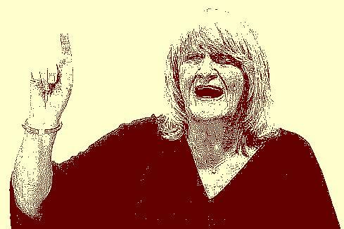 Den Finger hoch! Frollein Lohmeier belehrt uns gern.